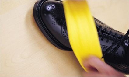 Poets je schoenen met een banaan